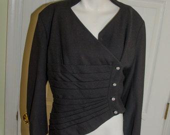 Vintage 1950's Lilli Ann Asymetrical Wool Suit Jacket