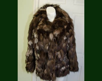 Vintage 1970's Bloomingdales Young East Sider Fur Coat Small
