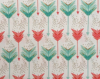 custom baby blanket ~ coral & teal arrows ~ chic couture ~ baby accessories ~ custom made baby blanket from lillybelle designs