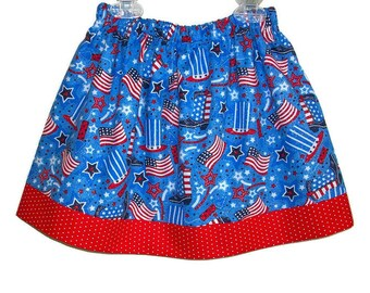 Patriotic Skirt Girls Skirt USA Skirt Red White and Blue toddler skirt 4th of July Skirt US flag skirt Cowboy boots Patriotic Clothes