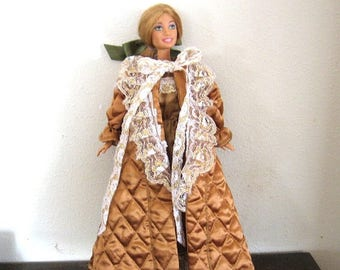 ON SALE Barbie Clothes Gold Robe and Gown Set