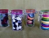 Button Jars - set of 4