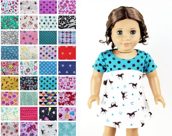 Fits like American Girl Doll Clothes - The Tri-City Dress, You Choose Print