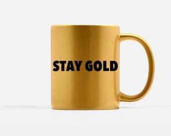 Stay Gold mug - The Outsiders Mug - Customized mug - Boyfriend gift - Gold mug - Ponyboy mug - Books lovers mug - mug - S. E. Hinton