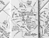 Athens, Georgia Map Magnets