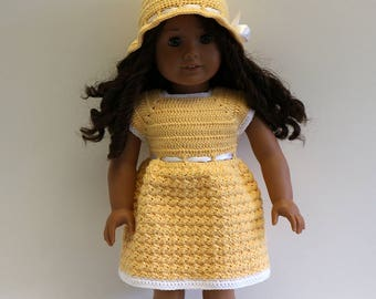 """Instant Download - 18"""" Doll Pattern 2 - Pretty Dress and Hat"""