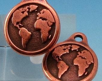 TierraCast Earth Drop, Antique Copper, 2-Pc. TC82
