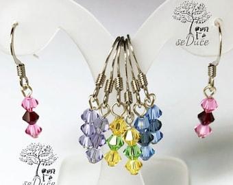 Destash - Girls Swarovski Colorful Earrings 4 pairs