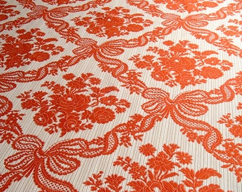XL vintage curtain fabric / 3 yards wide! / upholstery fabric / rose pattern / 1970s / unused on the bolt / retro / vintage fabric