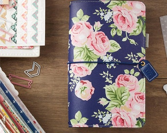 Webster's Pages Navy Floral Traveler's Notebook