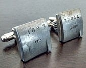 Mini Copper Engine Part CUFFLINKS - with original stampings of part numbers