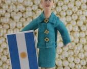 Eva Peron Political Figure Argentina Doll Miniature