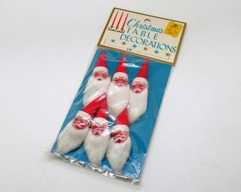 Vintage Santa Picks Christmas Decoration Package Tie Ons