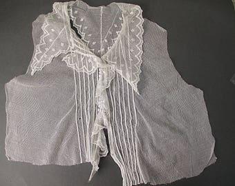 Antique lace collar yoke Edwardian era
