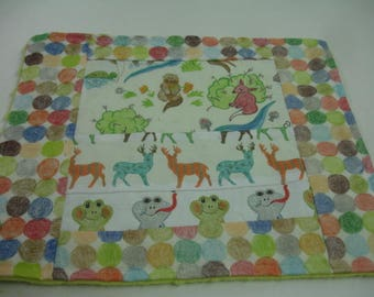 Over in the Meadow Minky Burp Cloth 13 x 11 READY TO SHIP On Sale