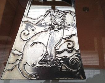 Siamese cat mirror