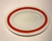 Hard to Find Vintage Pyrex Fleur De Lis Oval Plate