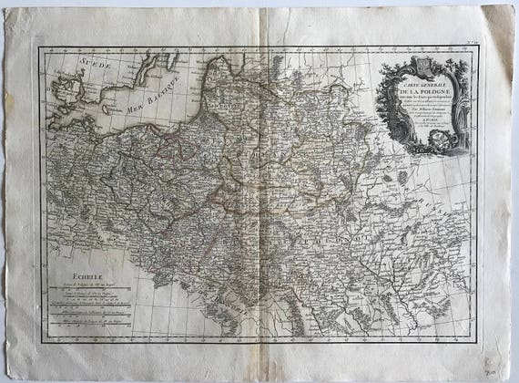 1771 Map of Poland