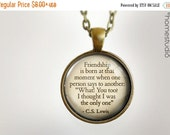 HALF OFF Sale - CS Lewis (Friendship) : Glass Dome Necklace, Pendant or Keychain Key Ring. HomeStudio Jewelry Gifts and Presents. Black Frid