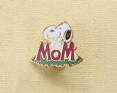 Aviva Vintage Snoopy Mom Pin Enamel Cloisonne  1138