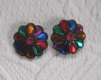 kaleidoscope earrings . huge earrings . 80s earrings