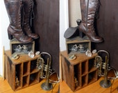 90's does 1800's Steampunk boots, Victorian boots, granny boots, lace up tall boots, high heel, Stevie Nicks, veggie vegan, tooled leather