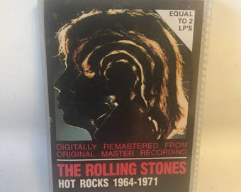 Rolling Stones Hot Rocks 1964-1971 Cassette Tape - equals to 2 lp's