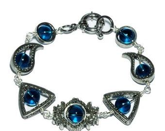 Neo Victorian Jewelry - Bracelet - Zircon blue