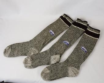 Vintage 1950s Mens Socks NOS 3 Pair Self Supporting Top