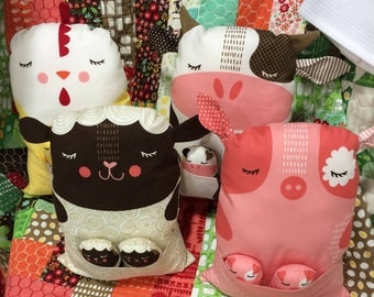 Farm Fun Animal Dolls and Their Babies by Stacy Iset Hsu for Moda
