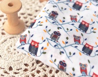 4661 - Night Owl Bird Rayon Fabric - 57 Inch (Width) x 1 Yard (Length)