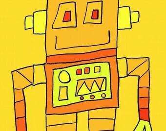 cute robot  Art Print by Giraffes and Robots