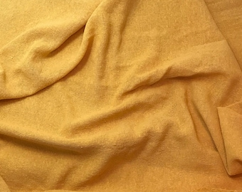 Hand Dyed GOLDEN POPPY Raw Silk Noil Poplin Gauze Fabric - 1 Yard