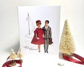 Winter Wonderland Vintage Barbie Boxed Holiday Card Set