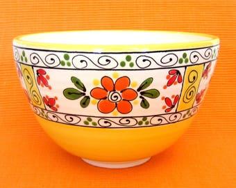 Orange and Yellow Ceramic Bowl