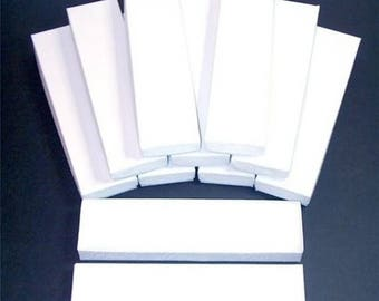 Spring Sale 10% off 20 Pack White Color Cotton Filled 8X2X1 Inch Size Retail Jewelry Gift Presentation Boxes