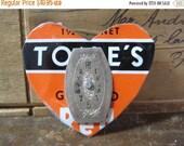 VALENTINES SALE Vintage Heart Tin Brooch
