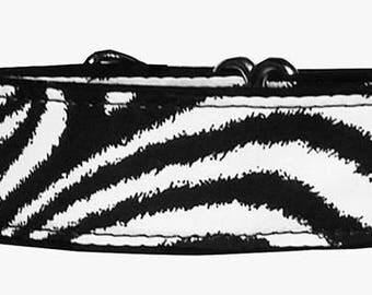 Zebra Print 2 Inch Martingale Collar-