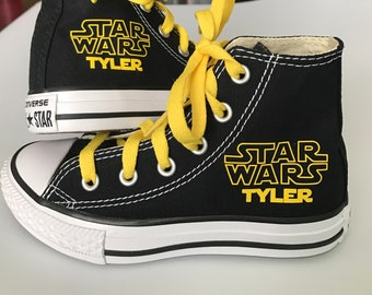 Star Wars Personalized Custom  High Top  Converse