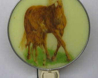 Horses NLs - 3 Choices - Brown Mare with Foal - White Work Horse - Stained Glass Horse (you pick colors for this one))