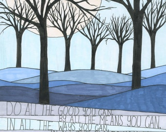 Goodness Art Print, Wall Art, Nature, Inspiration, John Wesley Quote