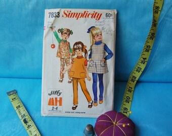50% off Holiday Sale Vintage 1968 RTunic and Pants Set Pattern Simplicity 7833 size 6