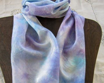 Pastel Dreams - Hand Dyed Habotai Silk Scarf