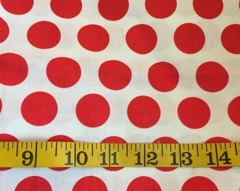 Half Yard of Red Polka Dot Fabric