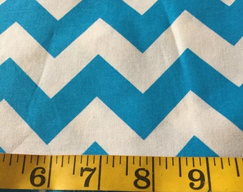Half Yard of Blue Chevron Fabric