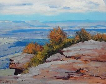 Blue Mountains PAINTING Katoomba Jamison Valley Australian Landscape Art on Canvas