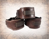 Wide Hand Stitched - Leather Watch Cuff, Leather Watch Strap, Leather Watch Band, Brown Watch Cuff, Men's Watch Cuff (1 Watch Cuff Only)