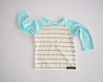 Long sleeve Baby Toddler Raglan T Shirt - Striped Raglan T shirt