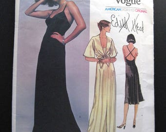 1970s VOGUE pattern 1560 Edith Head Designer series size 8  uncut instructions in FRENCH ONLY