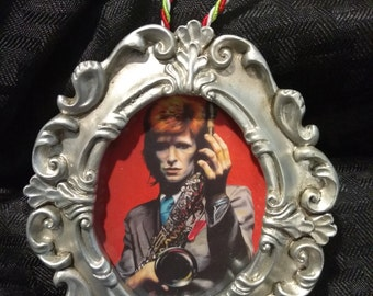 "David Bowie ""Pinups"" by Mel Fiorentino Christmas Ornament"